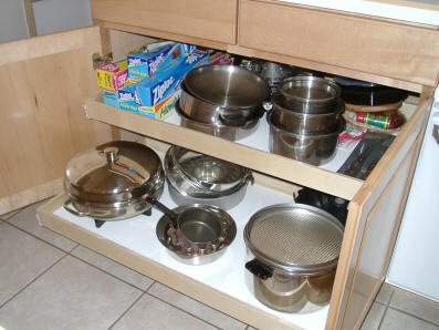 kitchen shelves pull out sliding shelving