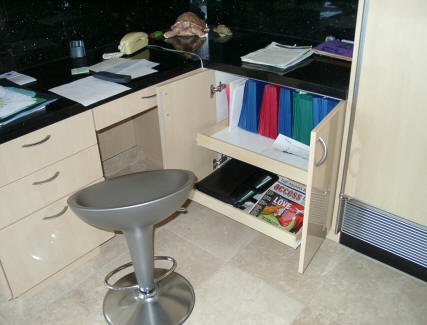 rolling shelves work great for your home office